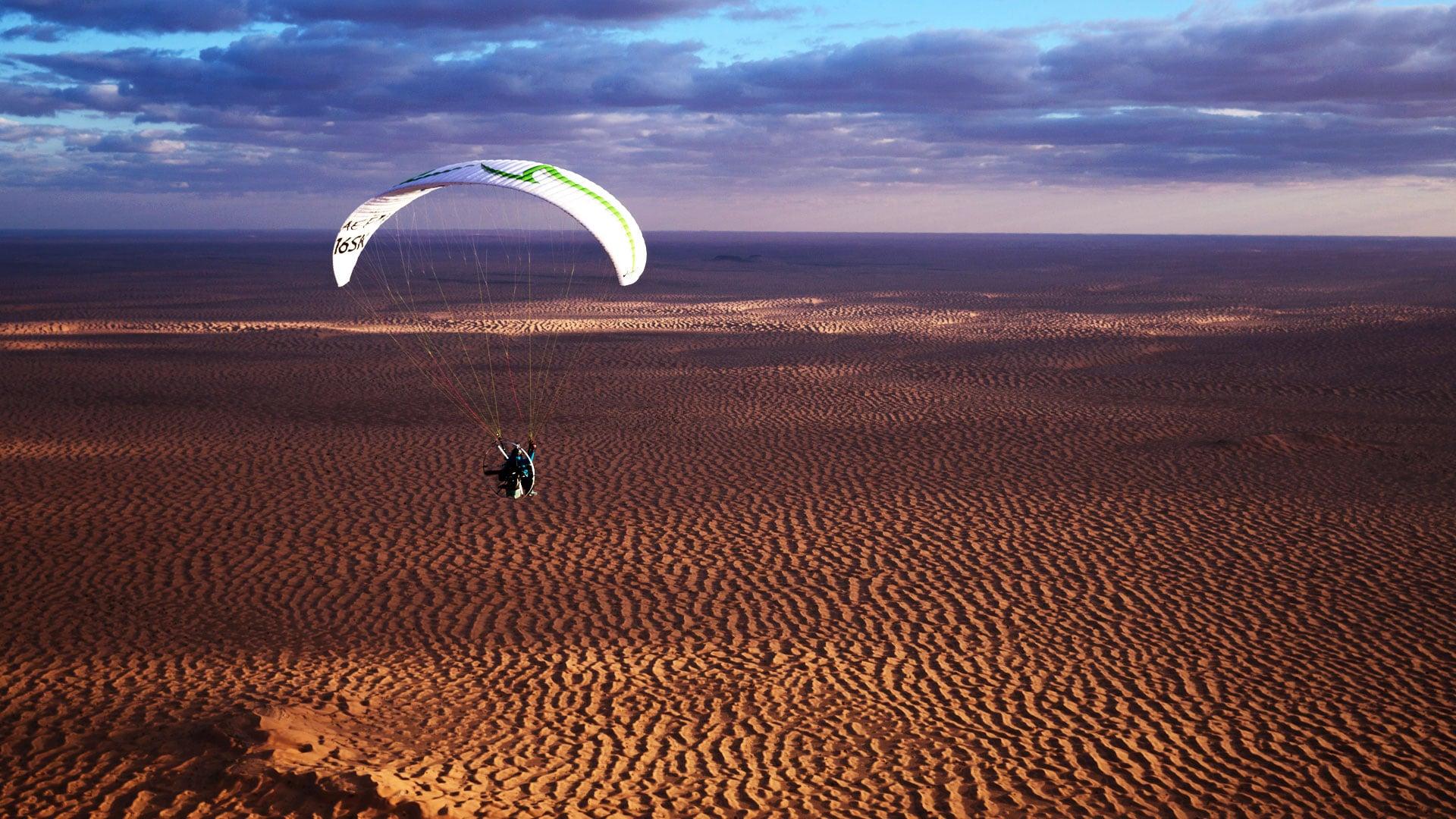 flying tunisia fond d'écran en paramoteur ulm